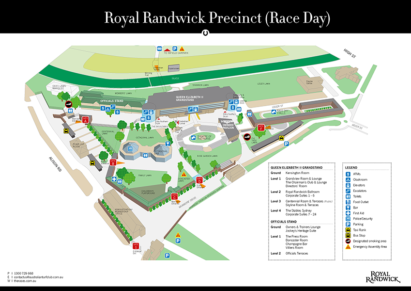 Royal Randwick Grand Stand Map